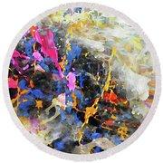 Round Beach Towel featuring the digital art Faith Remains by Margie Chapman