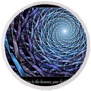 Faithfulness Round Beach Towel