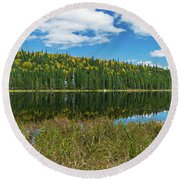 Fall Afternoon Round Beach Towel