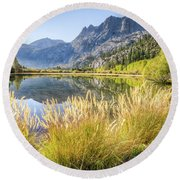 Fall Along The Creek Round Beach Towel