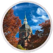 Fall And The Dome Round Beach Towel