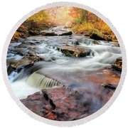 Fall At Gunstock Brook II Round Beach Towel