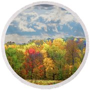 Fall At Shaw Round Beach Towel