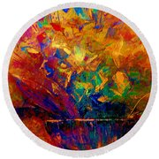Fall Bouquet  Round Beach Towel