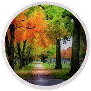 Fall Color Round Beach Towel