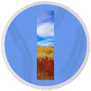 Round Beach Towel featuring the painting Fall Color Palette by Jennifer Lake