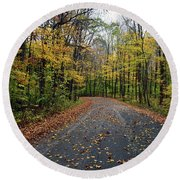 Fall Color Series 2016 Round Beach Towel