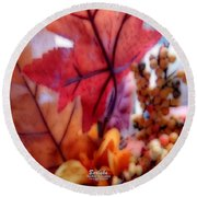 Fall Colors # 6059 Round Beach Towel by Barbara Tristan