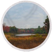 Fall Colors At Gladwin 4459 Round Beach Towel
