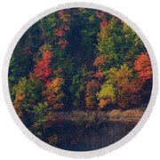 Fall Colors Round Beach Towel