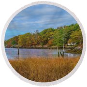 Fall Colors In Edgecomb Too Round Beach Towel