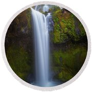 Round Beach Towel featuring the photograph Fall Creek Falls by Darren White