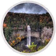 Fall Creek Falls Round Beach Towel