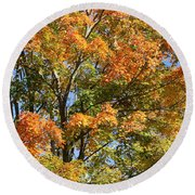 Round Beach Towel featuring the photograph Fall Gradient by William Selander