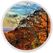 Fall Horizon Round Beach Towel