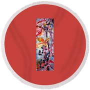 Round Beach Towel featuring the painting Fall II by Kovacs Anna Brigitta
