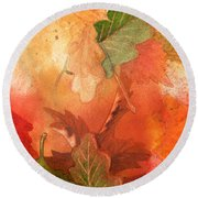 Fall Impressions V Round Beach Towel