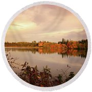 Round Beach Towel featuring the photograph Fall In Canada by Lynn Bolt