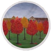 Fall In Markham Round Beach Towel