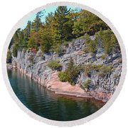 Fall In Muskoka Round Beach Towel by Claire Bull