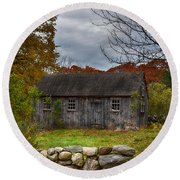 Fall In New England Round Beach Towel by Tricia Marchlik