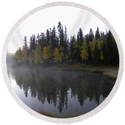 Kiddie Pond Fall Colors Divide Co Round Beach Towel