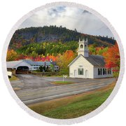 Fall In Stark Round Beach Towel