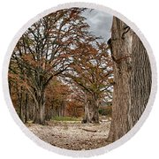 Fall In Texas  Round Beach Towel