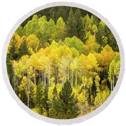 Fall In The Sierras Round Beach Towel