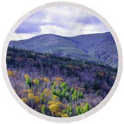 Fall In The White Mountains Round Beach Towel