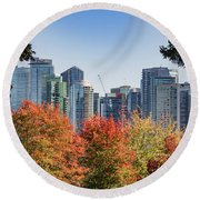 Fall In Vancouver Round Beach Towel