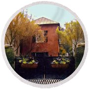 Fall Into Charleston Round Beach Towel