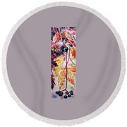 Round Beach Towel featuring the painting Fall by Kovacs Anna Brigitta