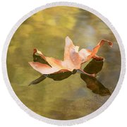 Fall Leaf Floating Round Beach Towel