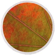 Fall Leaf Jewel Round Beach Towel