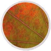 Fall Leaf Jewel Round Beach Towel