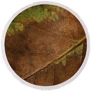 Fall Leaf Round Beach Towel