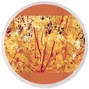Fall Leaves #1 Round Beach Towel