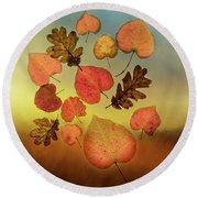 Fall Leaves #1 Round Beach Towel