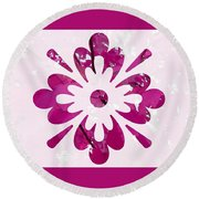 Fall Leaves #12 Round Beach Towel