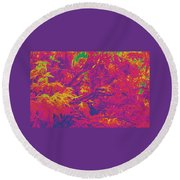 Fall Leaves #14 Round Beach Towel