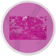 Fall Leaves #15 Round Beach Towel
