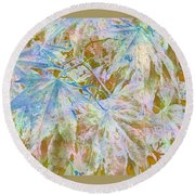Fall Leaves #16 Round Beach Towel