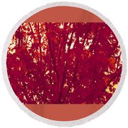 Fall Leaves #2 Round Beach Towel