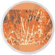 Fall Leaves #3 Round Beach Towel