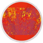 Fall Leaves #4 Round Beach Towel
