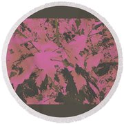 Fall Leaves #6 Round Beach Towel