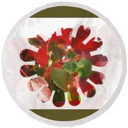 Fall Leaves #9 Round Beach Towel