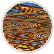 Fall Leaves Abstract Round Beach Towel