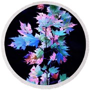 Fall Leaves1 Round Beach Towel
